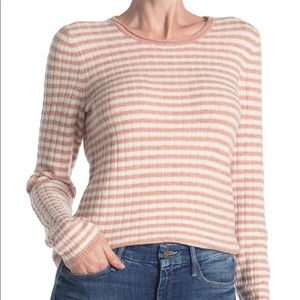 Madewell Collette Striped Wool Sweater Pink Medium